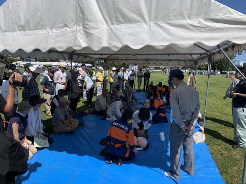 恵庭市総合防災訓練に参加しました。